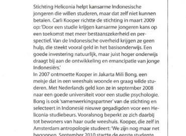 Article in magazine 'Genoeg – Meer doen met minder'