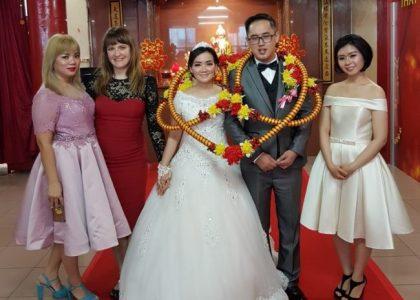Mili and Carli reunited at Mili's wedding in Jakarta