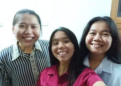 New students: Lenny, Nethania and Paska